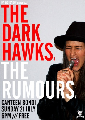 DARK HAWKS THE RUMOURS WEB POSTER
