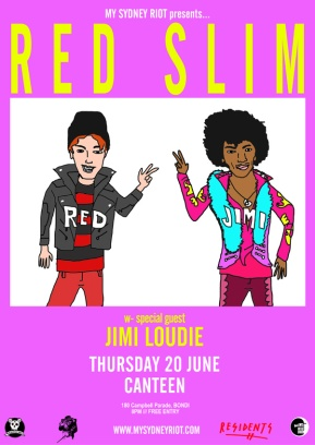 RED SLIM WEB POSTER