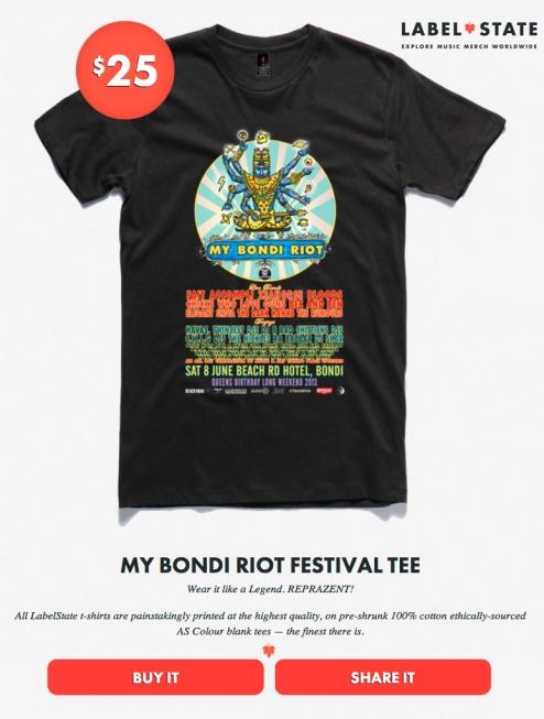 TEE MY BONDI RIOT FESTIVAL TEE