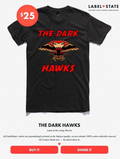 TEE THE DARK HAWKS