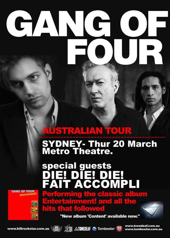 GANG OF FOUR POSTER SYDNEY