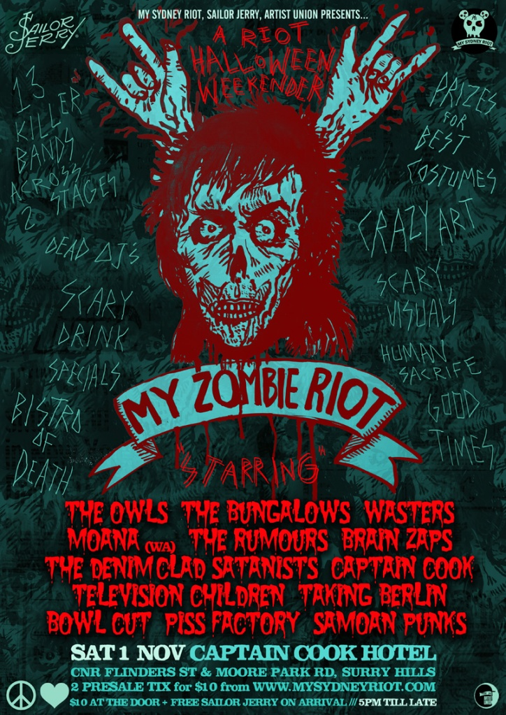 MY ZOMBIE RIOT WEB POSTER
