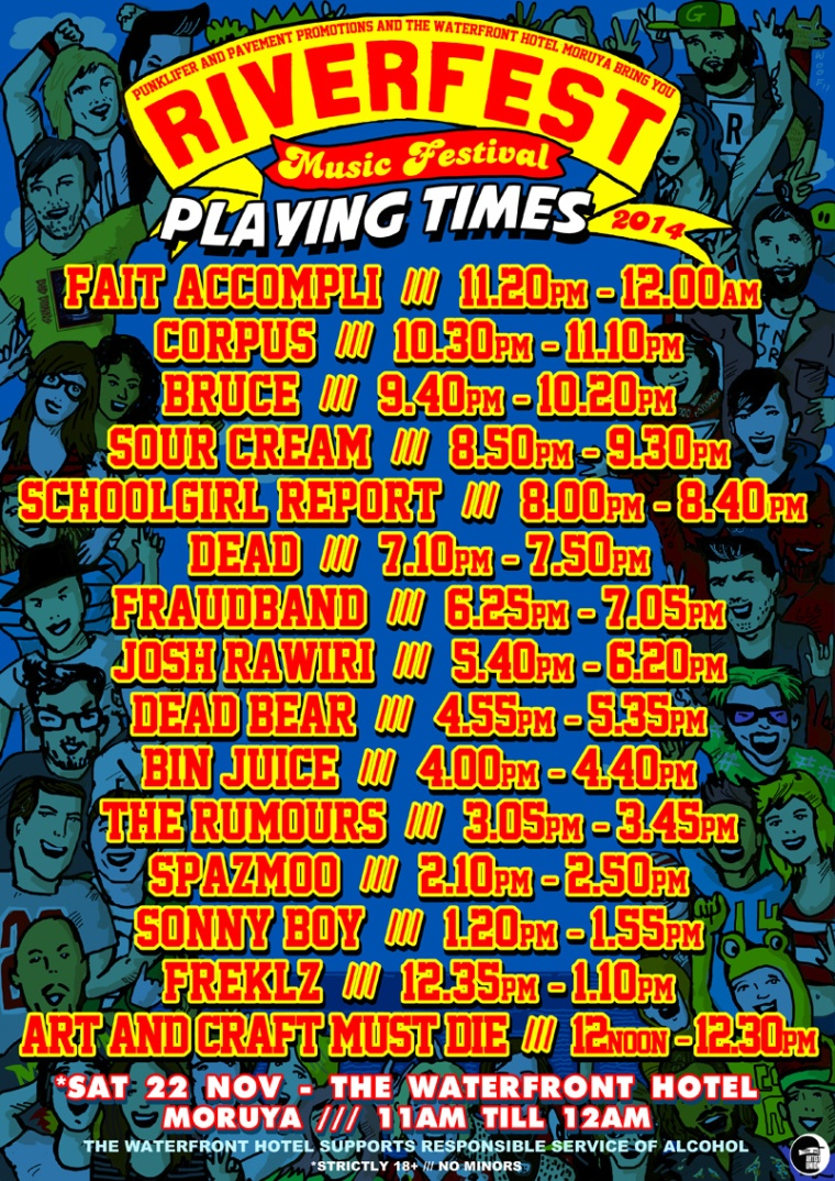 PLAYING TIMES WEB POSTER